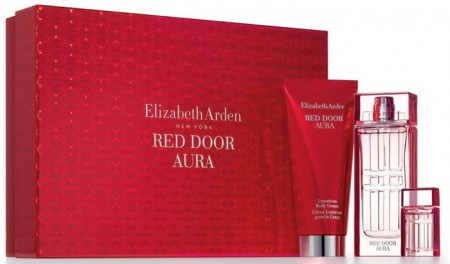 E. Arden Red Door AURA EDT 100мл+100мл мляко за тяло+5 EDT